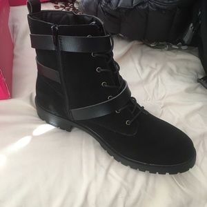 Black combat shoes Size 12